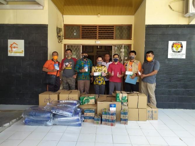 KPU Way Kanan Terima Bantuan APD