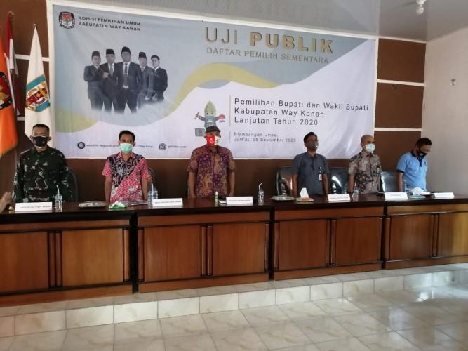 KPU Way Kanan Uji Publik DPS Pilkada 2020