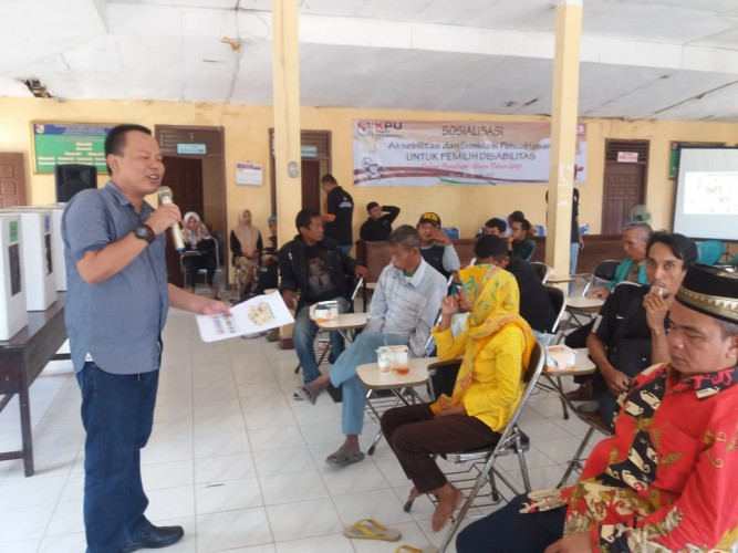 KPUD Tubaba Sosialisasi Pemilu kepada Penyandang Disabilitas