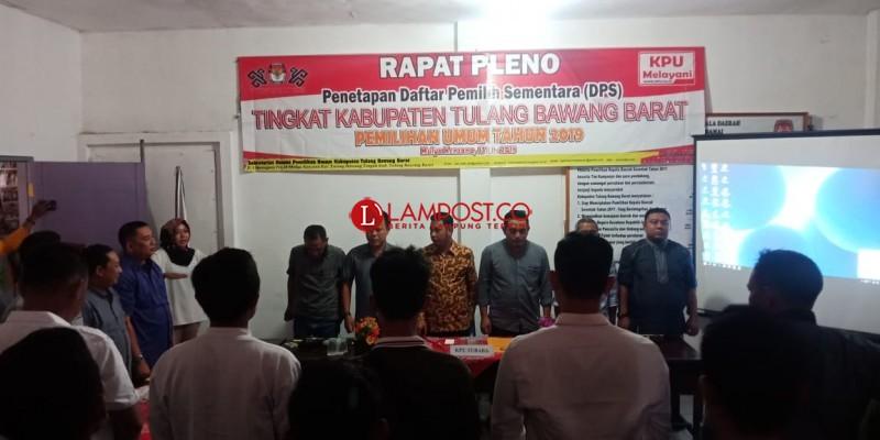 KPUD Tubaba Tandatangani DPS Pemilu 2019