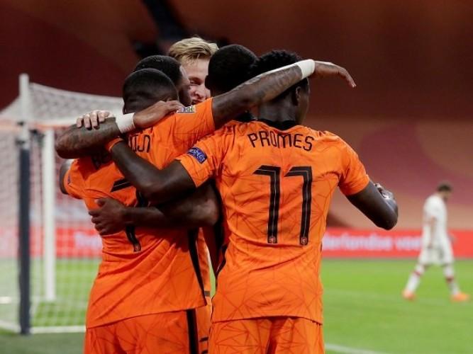 Kualifikasi Piala Dunia Zona Eropa: Belanda Pesta Gol 7-0