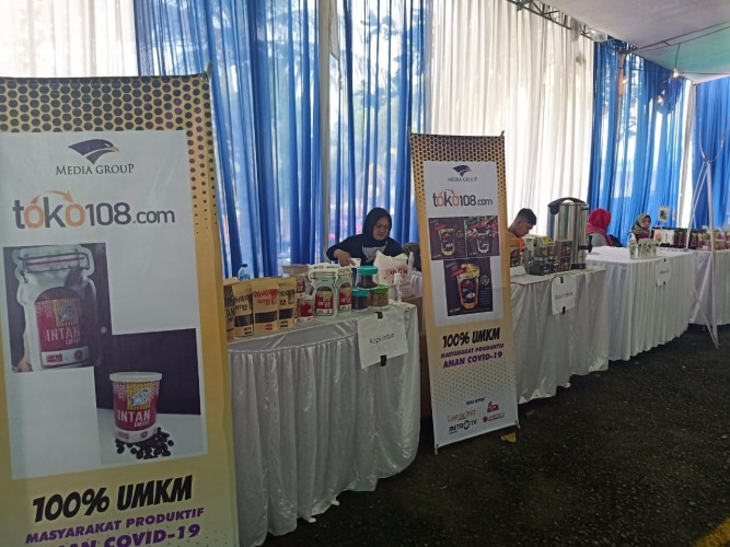 Kunjungi Pameran UMKM HUT Lampung Post, Mulai Kopi Hingga Tapis Tersedia