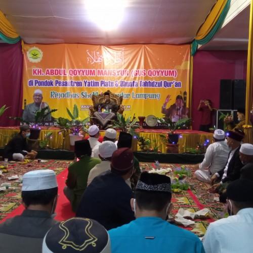 Kunjungi Ponpes Riyadhus Solihin, Cucu Pendiri NU Beri Pesan untuk Ulama Lampung