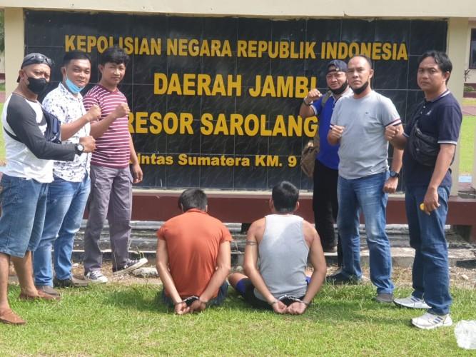 Kuras Isi Gudang, 2 Pemuda Lamteng Ditangkap di Jambi