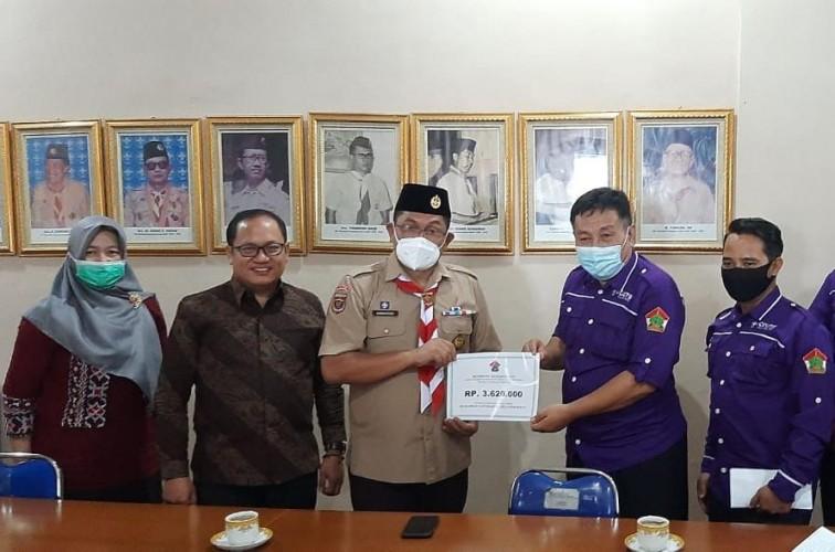 Kwarda Lampung Terima Bantuan Bencana dari Pinsako SPN