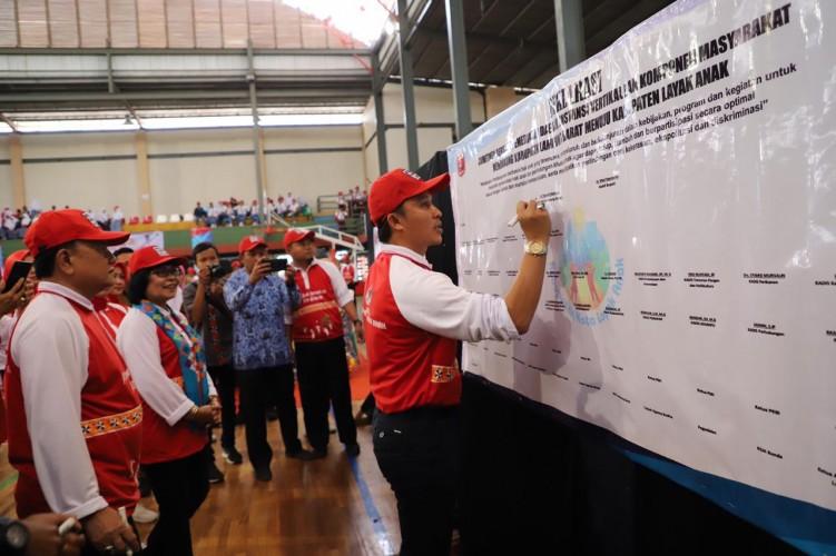 Lambar Deklarasi menuju Kabupaten Layak Anak 2019