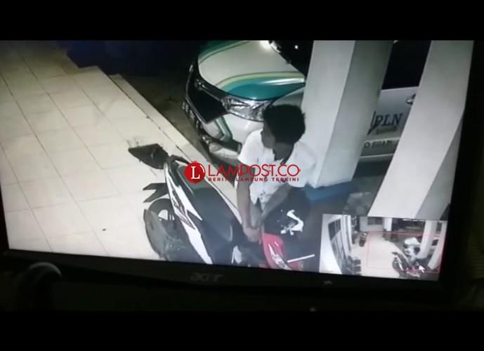 LAMPOST TV:Maling Gagal Bawa Kabur Motor di PLN Natar