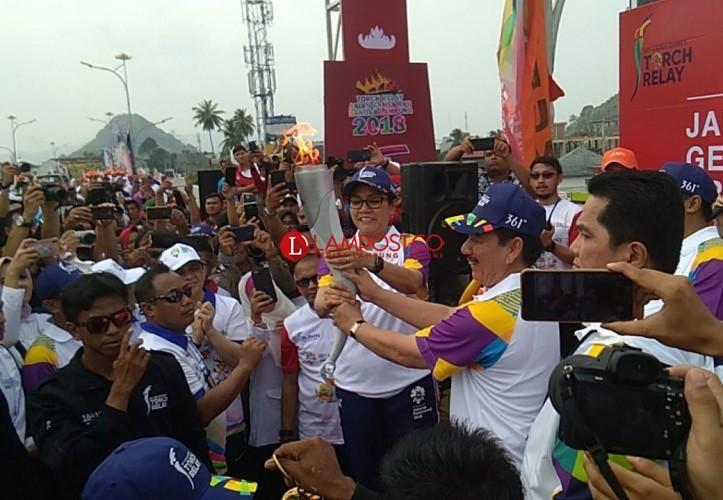LAMPOST TV: Obor Asian Games Tiba di Bandar Lampung