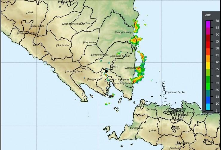 Lampung Berpotensi Hujan Disertai Angin Tiga Hari ke Depan