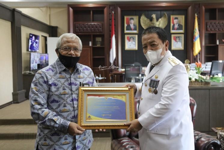 Lampung Dapat Penghargaan Opini WTP 6 Kali Berturut