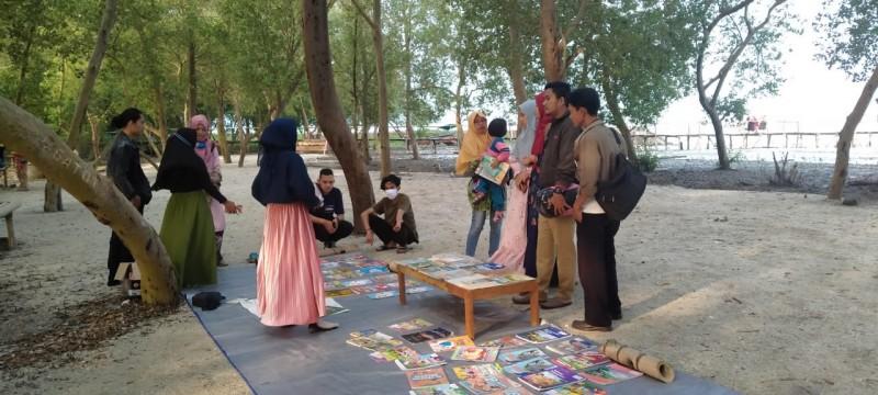 Lampung Ngopi Bangun Literasi di Desa Margasari
