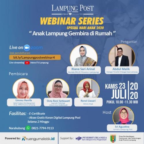 Lampung Post Gelar Webinar Spesial Hari Anak