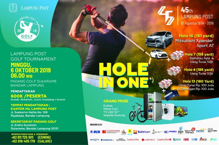 Lampung Post Open Golf Tournament Kembali Gigelar
