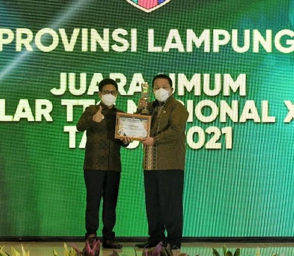 Lampung Raih Juara Umum Penghargaan dari Kemendes