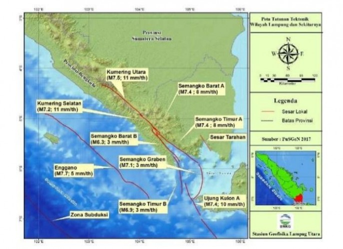 Lampung Rawan Gempa, Ini Penyebabnya