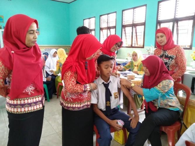 Lampung Selatan Capaian Terendah Imunisasi MR di Lampung