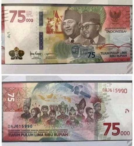 Lampung Siapkan 1,8 Juta Lembar Uang Baru Pecahan Rp75.000