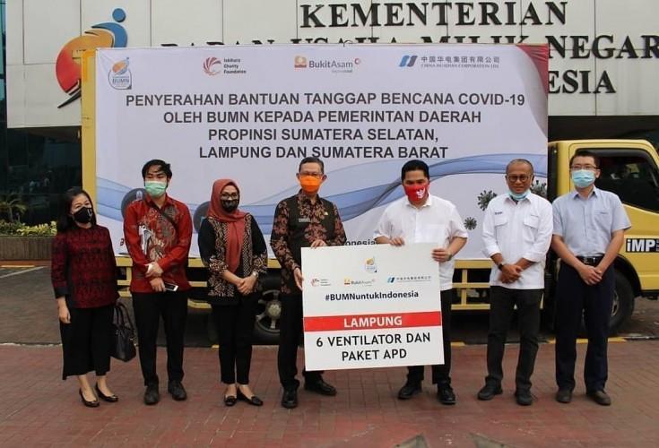 Lampung Terima Bantuan Alat Covid-19 dari Kementerian BUMN