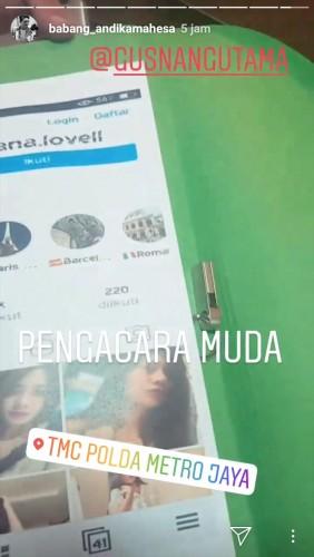 Lapor ke Polda Metro Jaya, Andhika Lampirkan Bukti Video dan Capture Akun Penghina Suku Lampung
