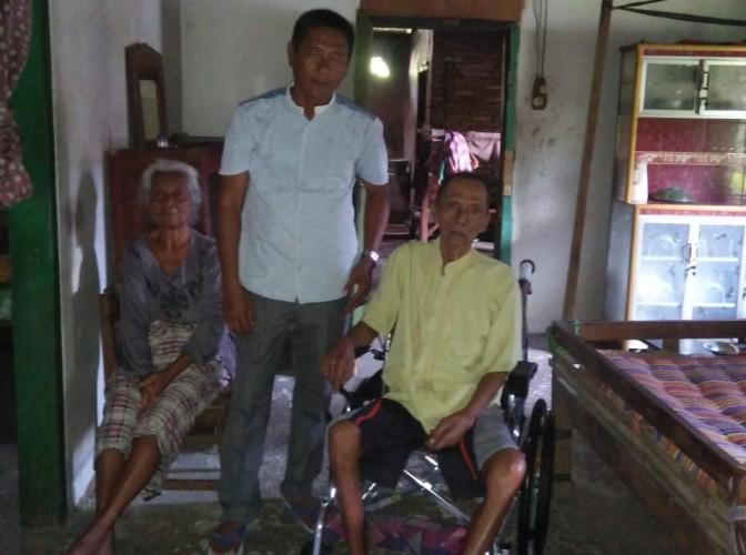 Lembaga Kesejahteraan Sosial Palas Salurkan Bantuan Kursi Roda