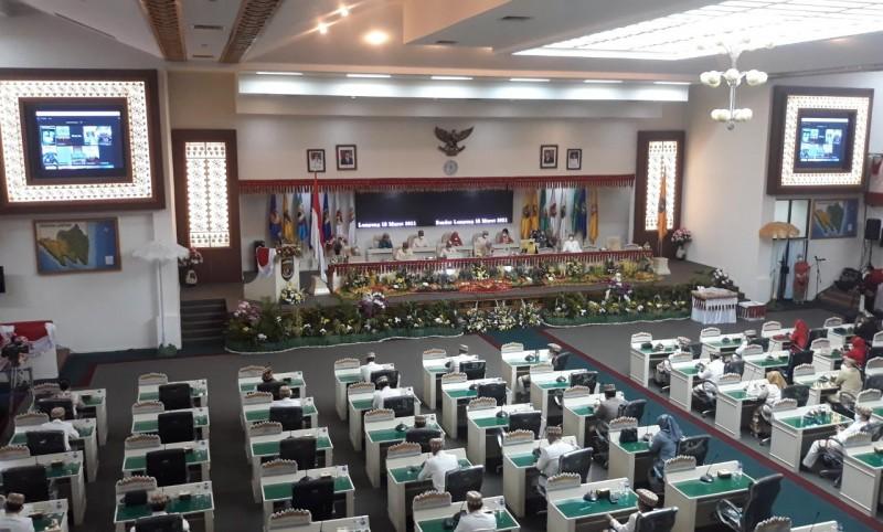Lenista dan Sahdana Dilantik Jadi Anggota PAW DPRD Lampung