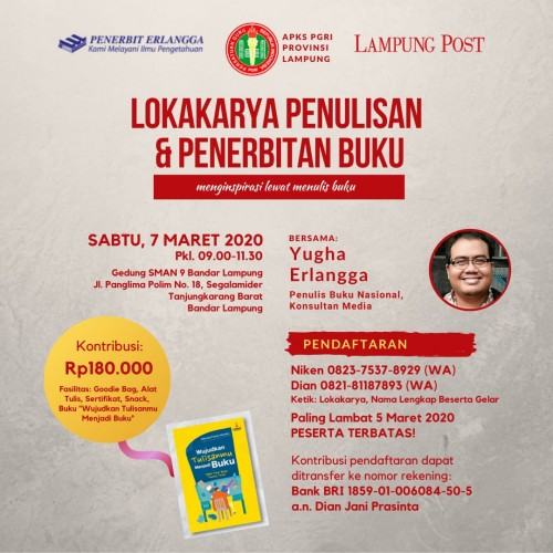 Lokakarya APKS PGRI Lampung Hadirkan Penulis Nasional