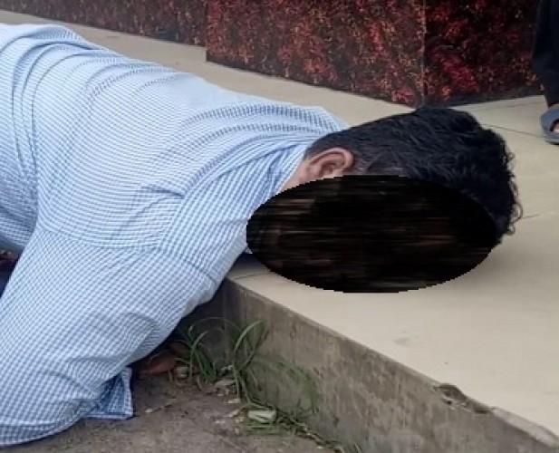 Lokasi Pria Paruh Baya yang Viral di WA di Natar