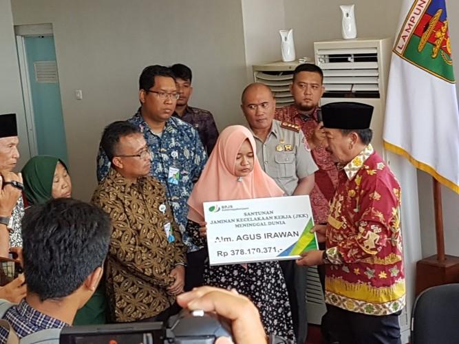 Luar Biasa, Manfaat Lebih Santunan Kematian Diberikan ke Anggota BPBD Bandar Lampung