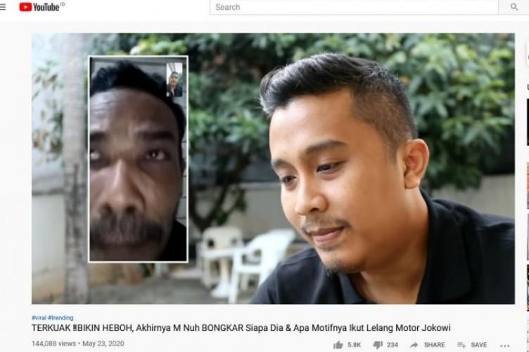 M Nuh Mengira Menang Kuis Rp2,55 M dari Jokowi bukan Lelang Motor