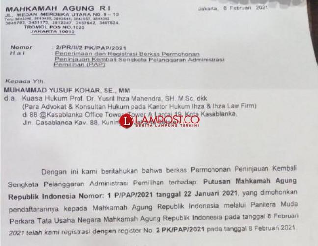 MA Registrasi PK, Yutuber Minta Penetapan Pemenang Pilkada Ditunda