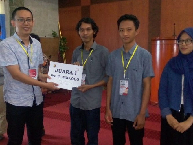 Mahasiswa IIB Darmajaya Sabet Juara Web Technology Selekda ASC XIII 2019