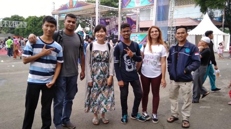 Mahasiswa Mancanegara Takjub dengan Even Lampung Krakatau Festival 2018