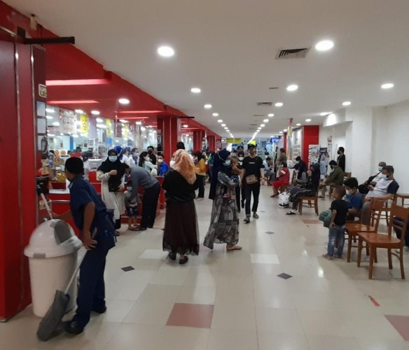 Mal di Bandar Lampung Mulai Diserbu Pengunjung