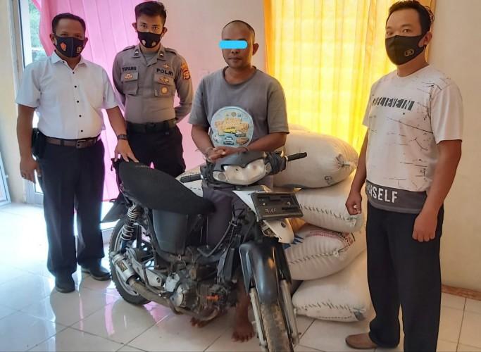 Maling Gabah, Warga Ketapang Ditangkap Polisi