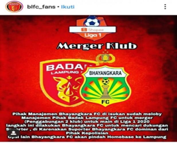 Manajemen Badak Lampung Bantah Merger dengan Bhayangkara FC
