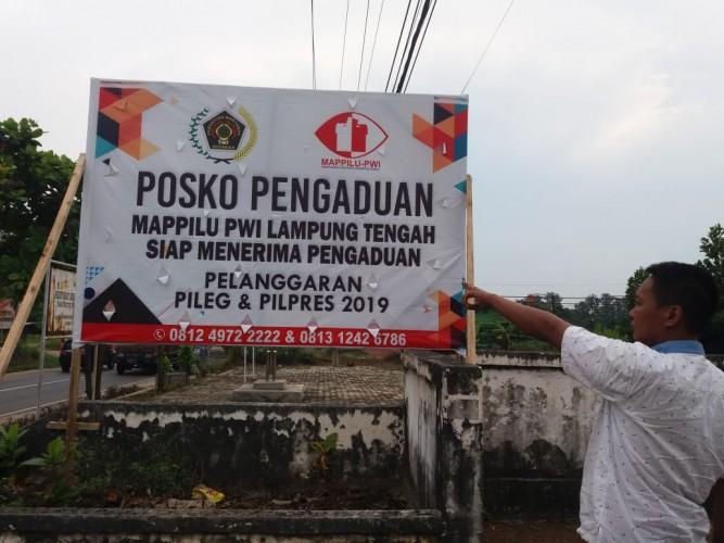 Mappilu PWI Lamteng Buka Posko Pengaduan Pelanggaran Pemilu