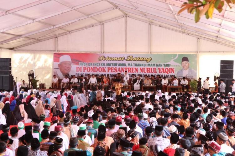 Maruf Amin Hadiri Tabligh Akbar di Padang Pariaman