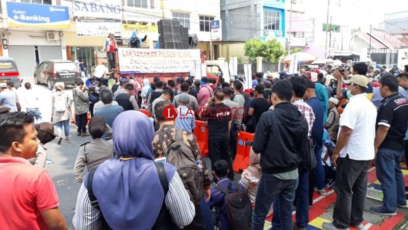 Massa Aksi Kawal Ketat Sidang Bawaslu
