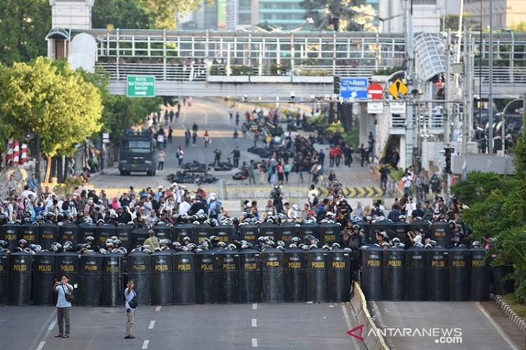 Massa Mulai Berdatangan di Bawaslu RI