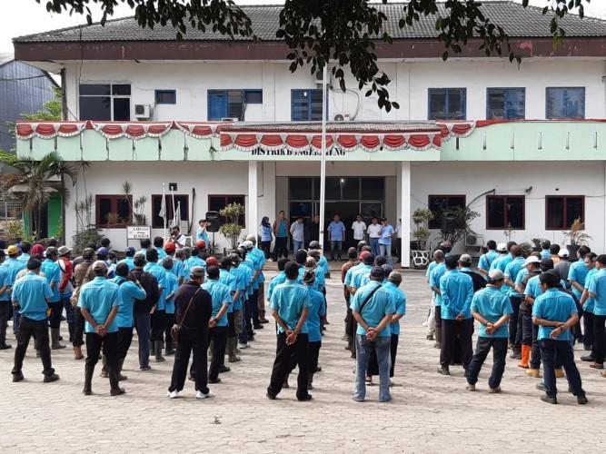 Massa SPPN7 Tolak Konstatering PN Blambanganumpu