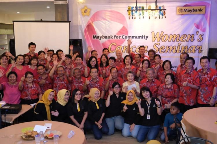 Maybank Gelar Seminar Deteksi Dini Kanker ke Anggota PSMTI Pringsewu