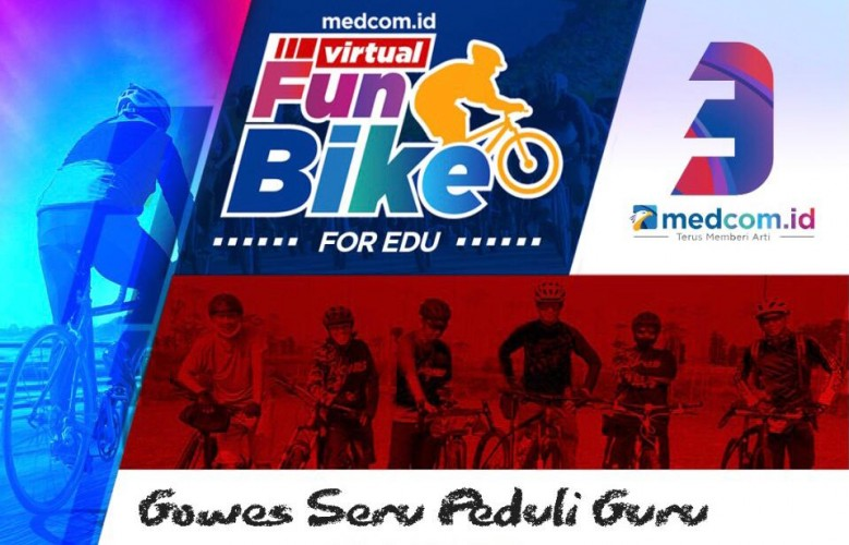 Medcom.id Gelar Virtual Funbike for EDU Rayakan HUT Ke-3