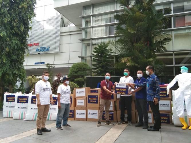 Media Group Salurkan Bantuan APD Partai NasDem ke Co-Hope