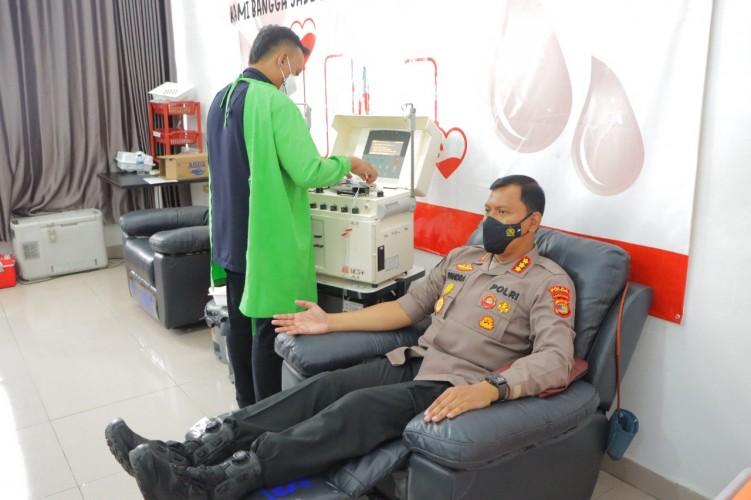 Membantu Sesama, Kabid Humas Polda Lampung Donorkan Plasma Konvalesen