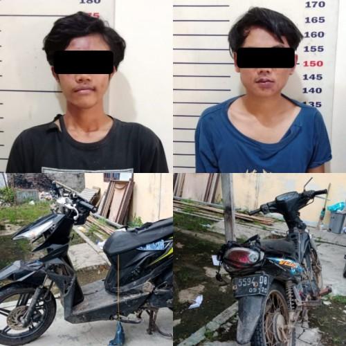 Mencuri Motor Pencari Rumput, Dua Pemuda Asal Kalianda Ditangkap Warga