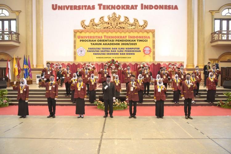 Mendikbud Motivasi Mahasiswa Baru, Ketua LLDikti Dorong Universitas Teknokrat Mewujudkan <i>World Class University</i>