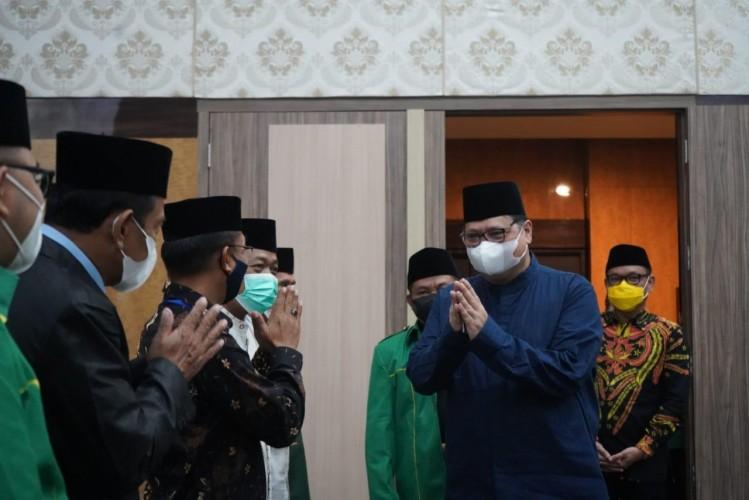 Menko Airlangga Ajak Ikhwanul Muballighin Sukseskan Vaksinasi