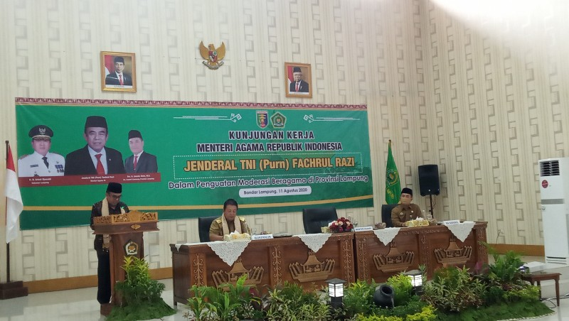 Menteri Agama Dorong Lampung Jadi Embarkasi Penuh 2021