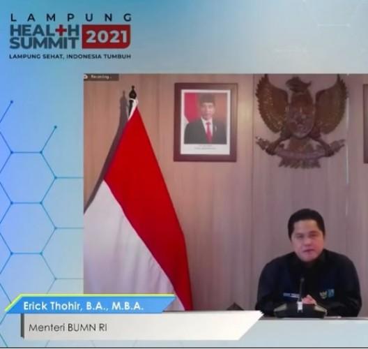 Menteri BUMN: Tren Pemulihan Ekonomi di Lampung Selalu Membaik