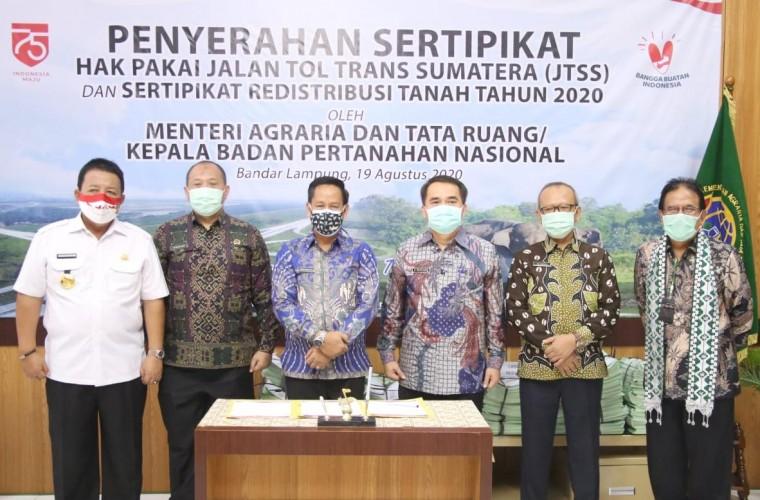 Menteri Sofyan Djalil Dukung Lahan Pertanian Pangan Berkelanjutan di Lampung